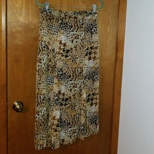 Pinky&Dianne Animal Print Long Skirt Size Small